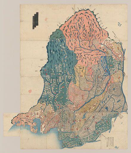武蔵国輿地全図] | 横浜市立大学所蔵の古地図データベース | 横浜市立 ...